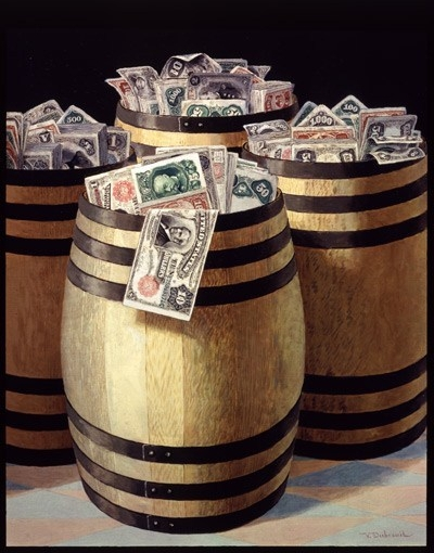 Victor Dubreuil, Barrels of Money, 1893